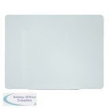 Bi-Office Glass Projection Screen and Magnetic Drywipe Board 1600x1000mm GL094201