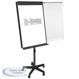 Bi-Office Vanguard Mobile Magnetic Flipchart Easel Black EA48066821