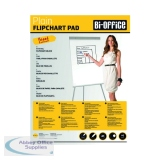 Bi-Office Plain Flipchart Pad A1 40 Sheet (5 Pack) FL010101