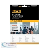 Bi-Office Self-Stick Flipchart Pad 635x780mm 30 Sheet White (2 Pack) FL128107