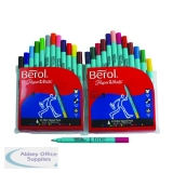Berol Assorted Water-Based Colourfine Pens Wallet (24 Pack) S0376530