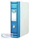 Hermes Heavy Duty 80mm 2D-Ring Polypropylene Box File A4 Blue 8.BA4.007