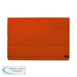 Elba Document Wallet Manilla 285gsm FC Orange (50 Pack) 100090241
