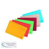 Elba Strongline Document Wallet Bright Manilla Foolscap Assorted (10 Pack) 400099327