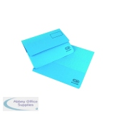 Elba Strongline Document Wallet Bright Manilla Foolscap Blue (25 Pack) 100090140