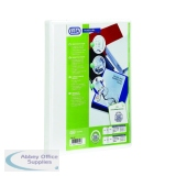 Elba Panorama White A4 Plus 50mm 2 D-Ring Presentation Binder (4 Pack) 400007674