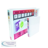 Elba Panorama 25mm 2 D-Ring Presentation Binder A5 White (6 Pack) 400008434
