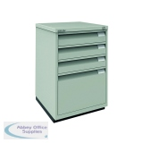 Bisley 3 Plus 1 Filing Cabinet Flush Fronted Goose Grey 1F3EGY