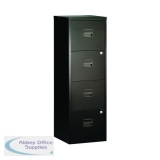 Bisley 4 Drawer Black A4 Personal Filing Cabinet BY31003