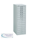 Bisley 15 Drawer A4 Cabinet Grey H3915NL-073