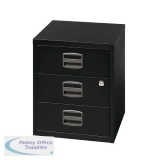 Bisley 3 Drawer Black A4 Mobile Home Filer BY33938
