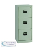 Bisley 3 Drawer Grey A4 Personal Filing Cabinet BY60794