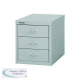 Bisley 3 Drawer A4 Cabinet Grey H123NL-073