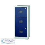 Bisley A4 Homefiler 3 Drawer Grey Blue BY78727