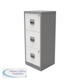 Bisley A4 Homefiler 3 Drawer Silver White BY78732