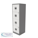 Bisley A4 Homefiler 4 Drawer Silver White BY78733