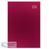 Collins Desk Diary A4 Week to View 2020 Red 40