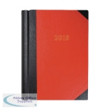 Collins 2018 Luxury 2 Pages per Day Red A4 Desk Diary 42