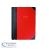 Collins Red A4 Desk Diary 2019 Luxury 2 Pages per Day 42