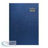 Collins Day/Page 2018 Blue A5 Desk Diary 52