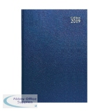 Collins A5 Desk Diary Day/Page 2019 Blue 52