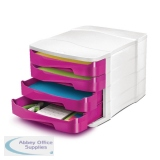 CEP Pro Gloss 4 Drawer Set Pink 394BIGPINK