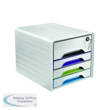 CEP Smoove Secure 4 Drawer Module with Lock Multicoloured 7-311S GM Arctic