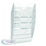 CEP Wall File 5 Compartment White/Crystal 154WHITE