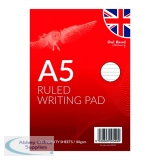 A5 Ruled Writing Pad 100 Sheets (12 Pack) OBS329