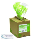 The Green Sack Clear Refuse Bag in Dispenser (75 Pack) GR0604