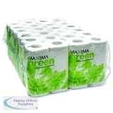 Maxima Green 2-Ply White Toilet Roll 200 Sheet (48 Pack) KMAX200G