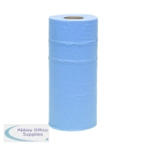 2Work 2-Ply Hygiene Roll 250mmx40m Blue HR2240