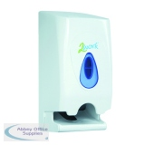 2Work Twin Toilet Roll Dispenser KMON503
