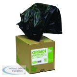 The Green Sack Heavy Duty Refuse Bag in Dispenser Black (75 Pack) GRO601
