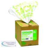 The Green Sack White Pedal/Office Bin Liners in Dispenser (300 Pack) VHPGR0605