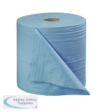 2Work 2-Ply Forecourt Roll 400m Blue (2 Pack) B2B340