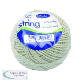 County Stationery Cotton String Ball Medium 40m White C172