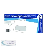 County Stationery DL White Window Peel and Seal Envelopes (1000 Pack) C505