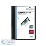 Durable 3mm Black Duraclip A4 File (25 Pack) 2200/01