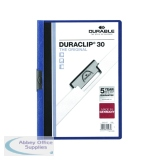 Durable 3mm Dark Blue A4 Duraclip File (25 Pack) 2200/07