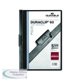 Durable 6mm Black Duraclip A4 File (25 Pack) 2209/01