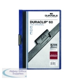 Durable 6mm Dark Blue A4 Duraclip File (25 Pack) 2209/07