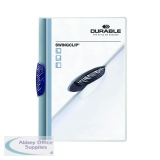 Durable Swingclip A4 Dark Blue Clip Folder (25 Pack) 2260/07