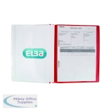 Elba A4 Red Pocket Report File (25 Pack) 400055038