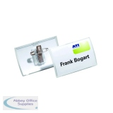 Durable Click Fold Name Badge 40x75mm (25 Pack) 8211/19