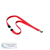Durable 15mm Coral Textile Lanyard With Snap Hook 8127136