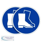Durable Wear Foot Protection Sign (5 Pack) BOGOF DB810742