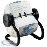 Rolodex Classic Black 500 Rotary Open Card File S0793600