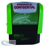 COLOP Green Line PRIVATE & CONFIDENTIAL Word Stamp P20GLPRI