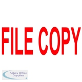 COLOP Green Line FILE COPY Red Word Stamp C144837FICO